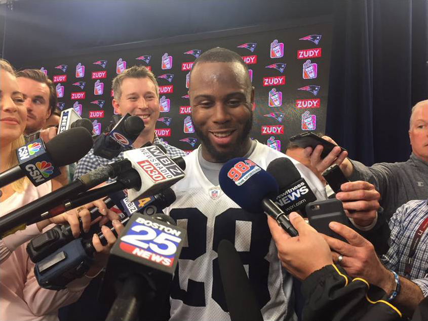 JAMES WHITE ON SUPER BOWL-WINNING TD: 'TRYING TO PUT THAT IN THE PAST'